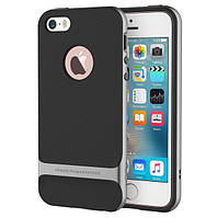 Чехол бампер Rock Royce Series для Apple iPhone 5 / 5S / 5SE - Iron Grey