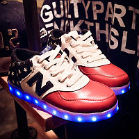 Светящиеся LED кроссовки LEDKED NB Stars