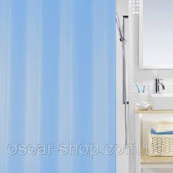 Шторка для ванной виниловая Spirella BIO 180х200 голубая