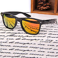 Популярные солнцезащитные очки Wayfarer с зеркальным покрытием рыжего цвета