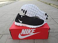 Женские Кроссовки Nike Free Run 3.0 Черные с белым