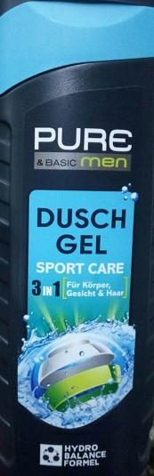 Гель для душа Pure and Basic Men Duschgel Sport Care 3 in 1, 300 мл (Германия)