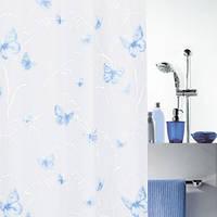 Шторка для ванной виниловая Spirella BUTTERFLY 180х200 голубая