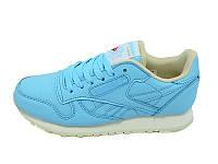 Женские кроссовки Reebok голубые
