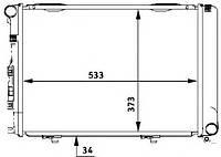 Радиатор Mercedes W124E 2,0D 84-92 530*370 1245004903