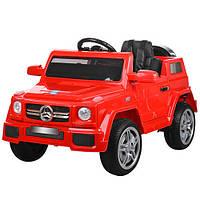 Детский электромобиль Mercedes M 2788 EBLR-3 красный, мягкие колеса и кожаное сиденье