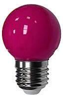 Светодиодная лампа Lemanso 1,2W фиолетовый шар, фото 1