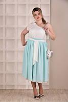 Мятное платье 0262-1