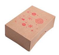 Коробка для 6 капкейков со вставкой, самосборная 255х180х90 мм., крафт