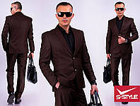 Мужской классический деловой костюм шоколад Вова