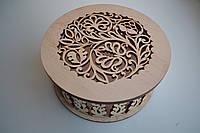 Шкатулка круглая с узорами, фото 1