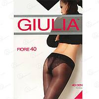 GIULIA Шелковистые колготки с ажурными трусиками-бикини FIORE 40 (заниженной талией) KLG-444