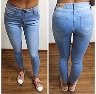 Женские модные голубые джинсы-скинни (Турция), фото 1