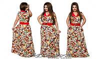 Летнее длинное платье из натуральной ткани штапель