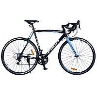 Велосипед 28д. G58CITY A700C-2 алюм.рама 58см, алюм.тормоз, обод 700C*25MM, черно-голуб.