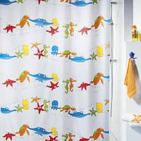 Шторка для ванной текстильная Spirella AQUARIUM 180х200