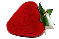 """Бархатная коробочка для кольца. """"клубника"""" Цвет: красный. Высота: 5 см. Ширина: 4 см."""