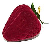 """Бархатная коробочка для кольца. """"клубника"""" Цвет: бордовый. Высота: 5 см. Ширина: 4 см."""