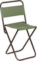 Удобный стул для пикника складной со спинкой DES-118, 22х27,5х45 см, 80 кг, синий