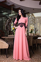 Очень шикарное длинное платье Сильвия 731-3 персик (С.Л.З.)