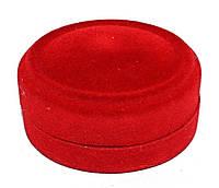 """Бархатная коробочка для кольца. """"овал"""" Цвет: красный. Высота: 4 см. Ширина: 5 см."""