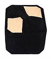 """Бархатная коробочка для кольца. """"куб"""" Цвет: чёрный и бежевый. Высота: 6 см. Ширина: 5 см."""