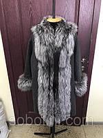 Пошили под заказ шикарное пальто из альпаки с мехом чернобурки. Клиенту очень понравилось.