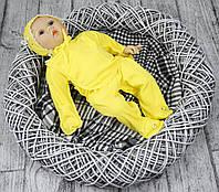 Комплект Бусинка на выписку для новорожденного р.56 (желтый)