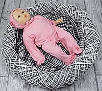 Комплект Бусинка на выписку для новорожденного р.56 (розовый)