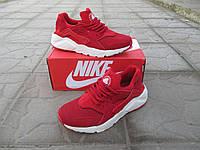 Женские Кроссовки Nike Air Huarache Ultra красные замша