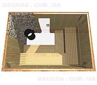 Баня под ключ с каменкой
