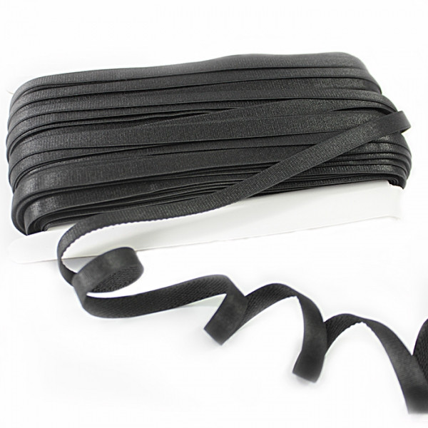 Резинка для бретель 1 см чёрный.