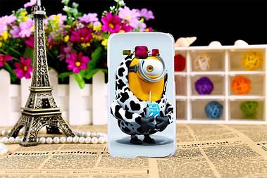 Эксклюзивный чехол для Samsung Galaxy J1 J00 с рисунком миньон пьёт молоко
