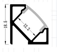 Алюминиевый профиль угловой 1м