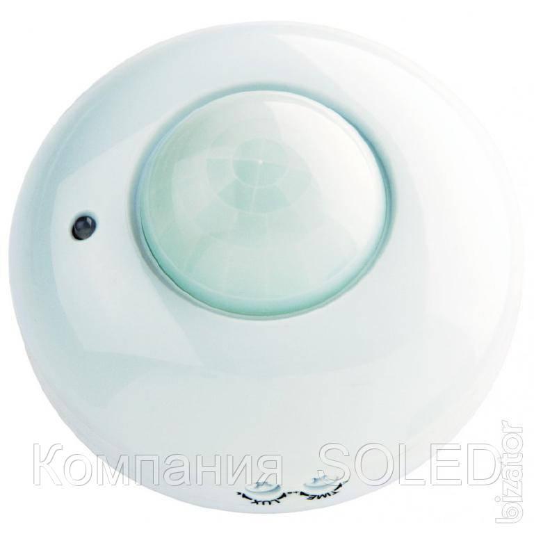 Датчик движения потолочный  120°- 360°  белый/черный