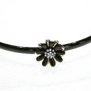 Заколки оптом; Обруч для волос пластиковый прорезиненный с камушками, ширина обруча: 7 мм, длина украшения: 2.