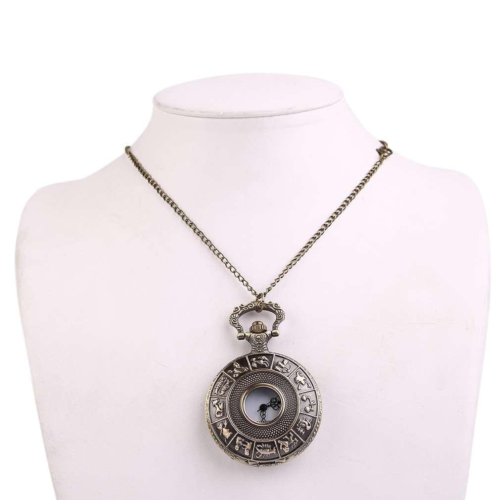 Часы Карманные Ретро знаки Зодиака