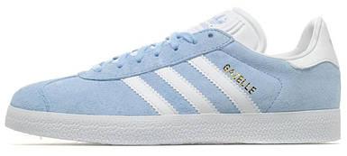 Женские кроссовки в стиле Adidas Gazelle Clear Sky/White