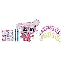 Творческий набор Укрась зверюшку Розовая обезьянка Littlest Pet Shop Hasbro B0095