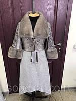 Длинное пальто верх кожа питона + мех норка KOPENHAGEN, низ выполнен из альпаки. Мода 2017