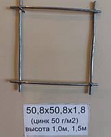 Сетка сварная 50,8х50,8х1,8 оцинкованная (цинк 50 г/м2)