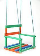 Детская подвесная деревянная качель Руди ДУ021аб для дома или улицы 30х30х31 см