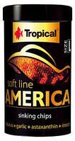 Tropical Soft Line America L 250ml/130g-корм для всеядных рыб (67434)
