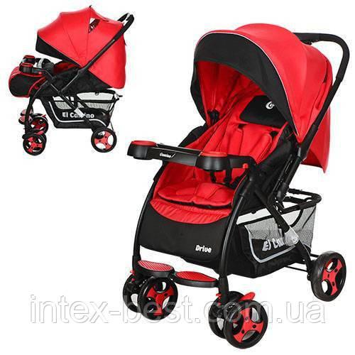 Детская прогулочная коляска Drive Красная M 3424-3