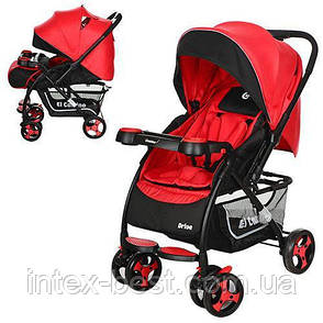 Детская прогулочная коляска Drive Красная M 3424-3, фото 2