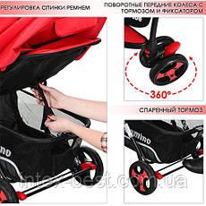 Детская прогулочная коляска Drive Красная M 3424-3, фото 3