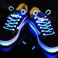 Светящиеся шнурки (СИНИЕ led светодиодные), фото 1