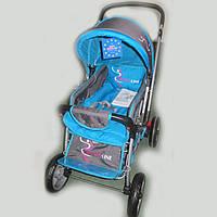 Детская коляска-книжка (перекидная ручка) Sigma H-538 EF, голубая с серым