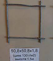 Сетка сварная 50,8х50,8х1,8 оцинкованная с повышенной защитой от коррозии