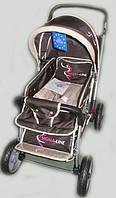 Детская коляска-книжка (перекидная ручка) Sigma H-538 EF, бежевая